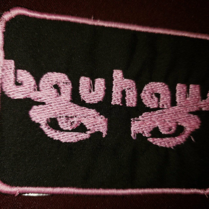 Bauhaus Pink Embroidered Patch