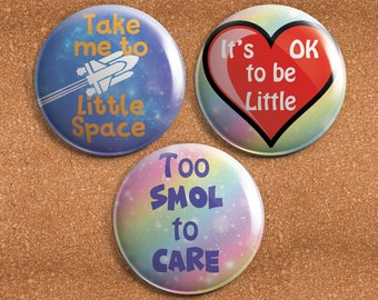 ABDL 1.75 inch Pinback Button or Magnet - Adult Baby Ageplay