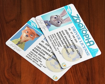 Zootopia Cosplay ID Badge - Screen Accurate - Custom Available