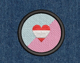 """ABDL Pride Embroidered Patch - 2.25"""" -- Iron-On or Velcro"""