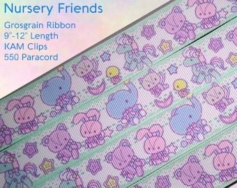 Nursery Friends (Blue) Adult Pacifier Clip - Custom Color