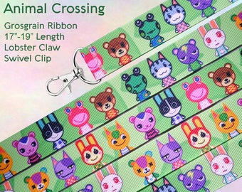 Animal Crossing Lanyard Clip - Lobster Claw Swivel Clasp
