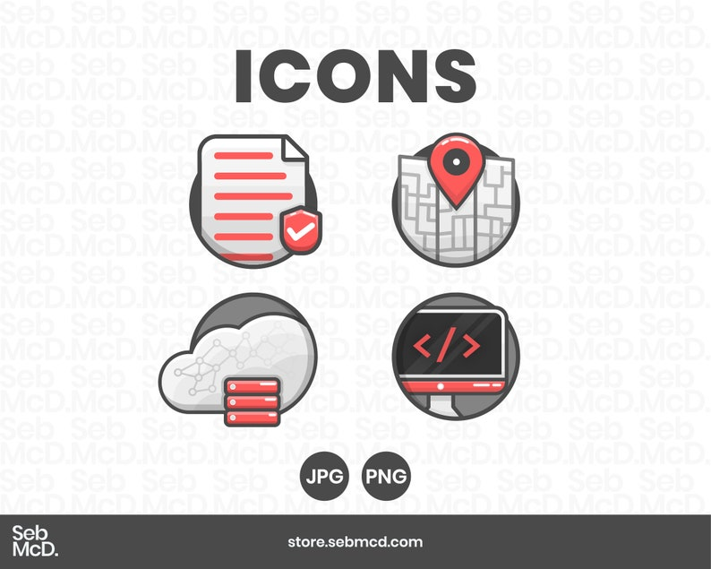 4 Website Icons    4 Blog Icons    JPG & PNGs    High image 0