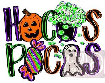 Halloween sublimation design   Hand drawn   PNG digital download   Digital art   Hocus pocus   Holiday   Fall