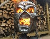 Iron Maiden Fire Pit - Iron Maiden Wood Burner - Eddie Fire Pit - Eddie Wood Burner - Metal Art