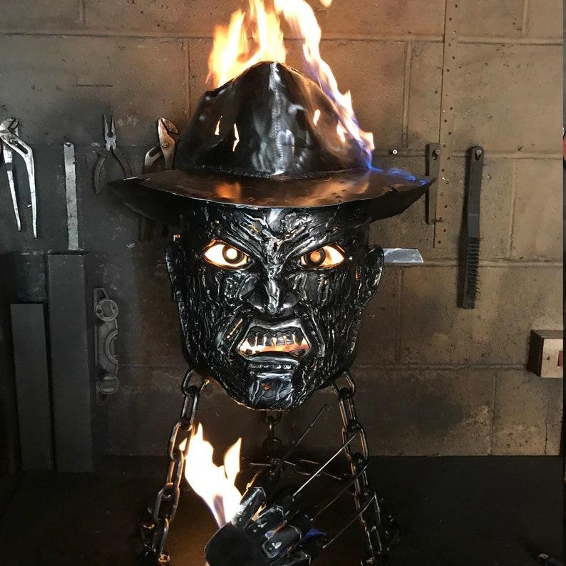 Freddy Krueger Wood Burner  Halloween Fire Pit  Halloween image 8