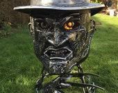 Freddy Krueger Wood Burner - Halloween Fire Pit - Halloween Wood Burner - Nightmare on Elm Street - Fire Pit - Freddy Krueger