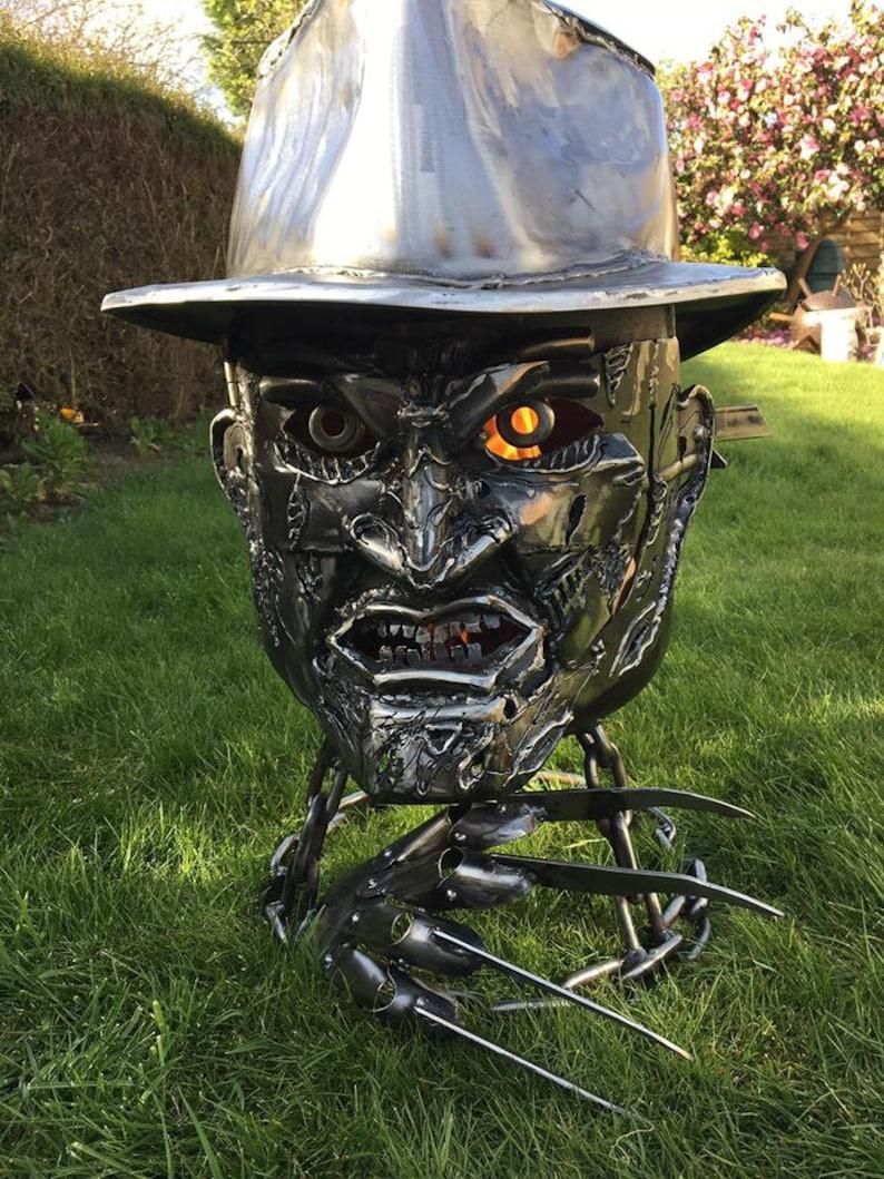 Freddy Krueger Wood Burner  Halloween Fire Pit  Halloween image 0
