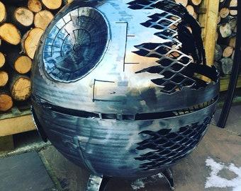 Death Star Wood Burner - Death Star Fire Pit - Death Star - Metal Art - Fire Pit - Wood Burner