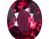 NATURAL RHODOLITE GARNET 2.852Cts - Rich Purple Pink Rhodolite Natural Garnet Oval cut Loose Gemstones Rhodolite Garnet ring See video