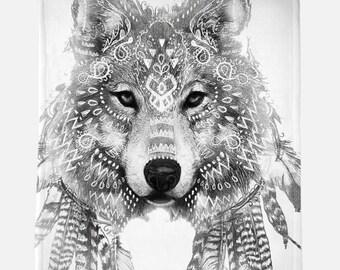 Wolf Blanket Etsy