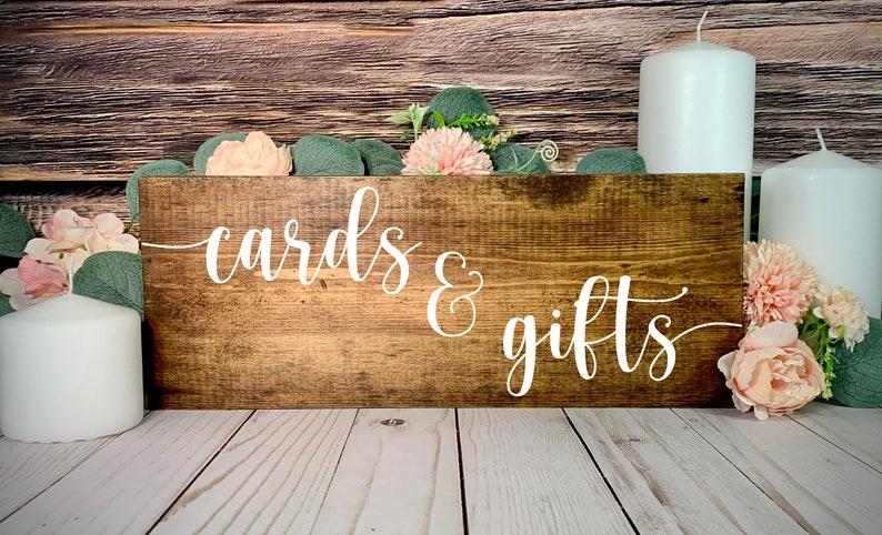 Wedding Table Decor Sign Wedding Table Centerpiece Sign Gifts and Cards Sign Wedding Gifts and Cards Sign