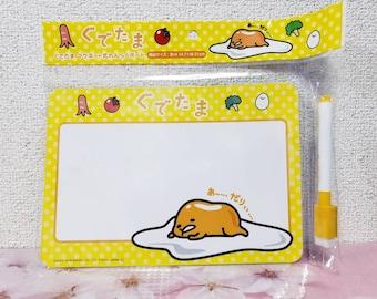 Cute Kawaii Sanrio Character Gudetama Magnetic Message Board /& Pen