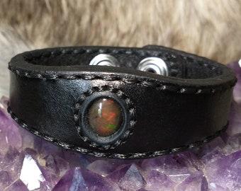 Black Fire Opal Bracelet