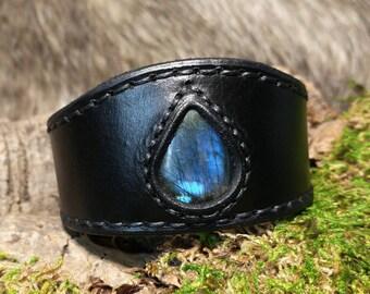 Deep Blue Labradorite Wrist Cuff