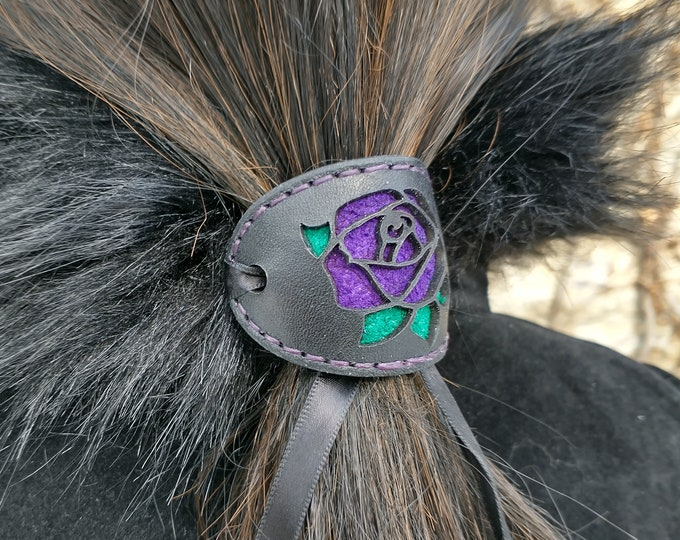 Lace Rose Hair Slide