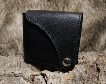 Handcrafted Leather Wallet with Snap Closure