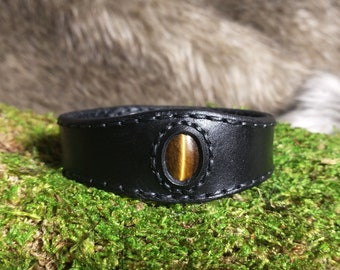 Tiger's Eye Leather Bracelet