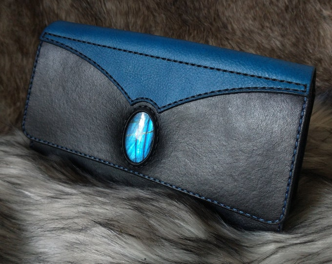 Black and Turquoise Labradorite Clutch