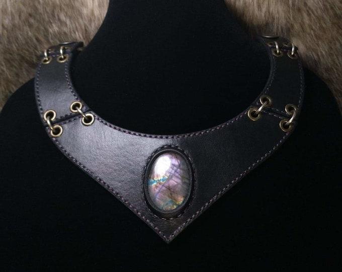 Violet Labradorite Broad Collar