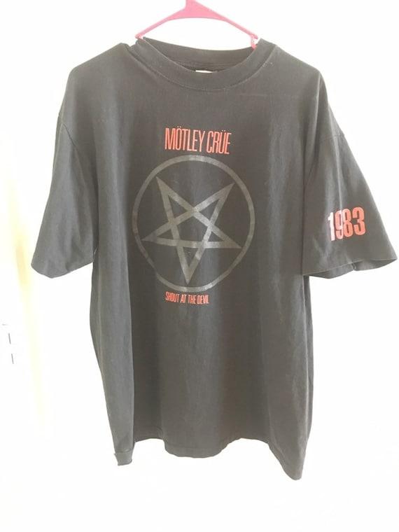 Vintage 1983 Motley Crue Shirt Size XL