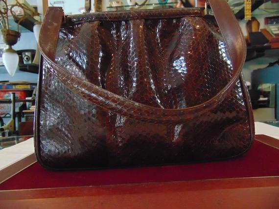 Precious 1940s python bag