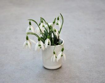 Set of 2 mini vessels, egg cups, mini vase, toothpick holder, cotton swabs, multifunctional minimalism