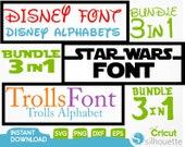 Disney Font Svg and TTF Include,Star Wars Font Svg,Trolls Font Svg,Walt Disney Alphabet Svg,Disney All Letters Svg,Disney Alphabet Svg