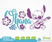 Lilo and Stitch Ohana Svg , Lilo and Stitch Clipart, Stitch Svg, Disney Svg, Files for Cricut, Disney Svg Files,Cricut, Silhouette Cut File