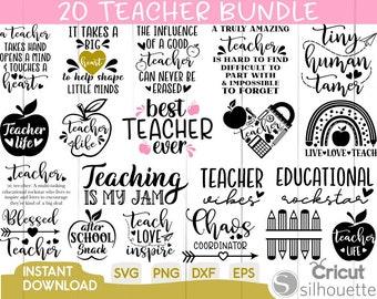 Teacher Svg Bundle, Teacher Quote Svg, Teacher Svg, Teacher Life Svg, School Quote Svg, Teach Love Inspire,School, Apple, svg,dxf,png