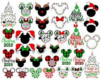 Disney Christmas SVG Bundle •  Christmas Svg • Mickey Christmas svg •  Christmas Mickey svg • Mickey Santa svg, PNG Disney Christmas 2020