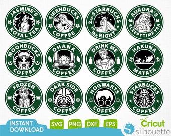 Disney Starbucks Svg,Cartoone Svg,Disney Prencess Svg,Disney Charecters Svg,Starbucks Svg,Starbucks Logo Svg,İnstant Download,Png,Eps,Dxf