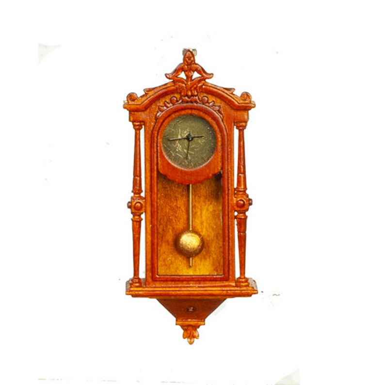 Dollhouse Miniature Victorian wall clock