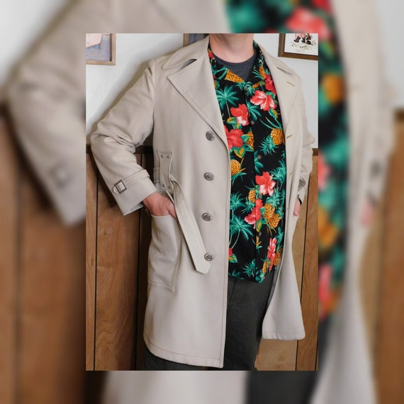 Classic Vintage Belted Trench Coat