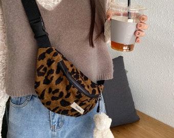 Animal Print Bum Bag Leopard Crossbody Shoulder Bag Zebra Belt Bag Fanny Pack