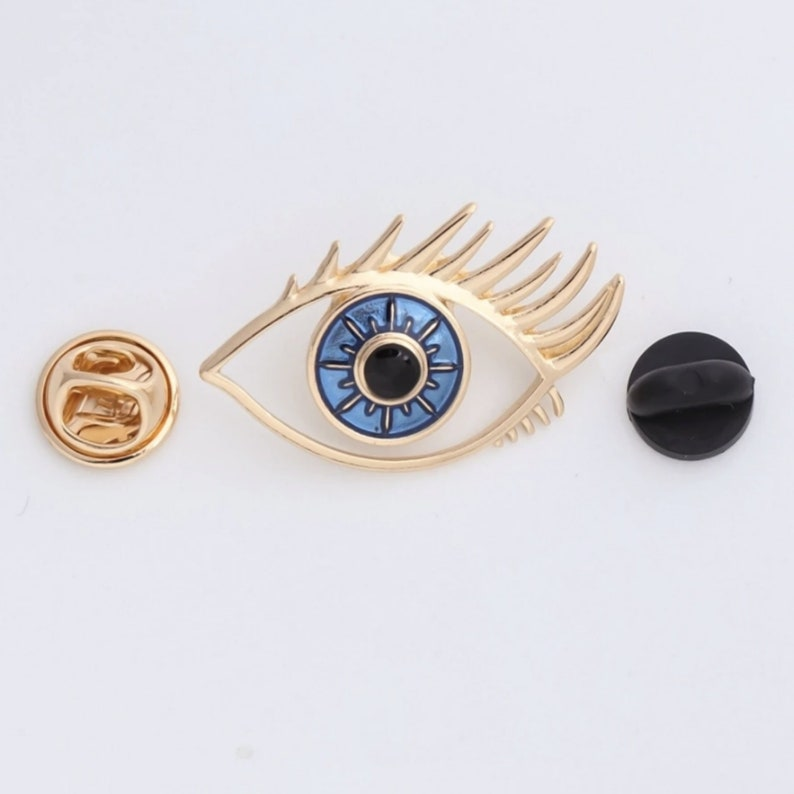 Optometrist Eye Blue Eye white coat enamel pin Ophthalmologist Gift Eye Jewellery Silver Eye Gift Eye Charm Gift for Doctor-Gift for Nurse