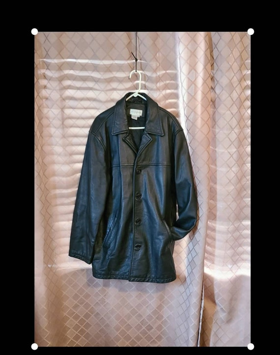 Vintage Paradox Black Leather Jacket Mens Leather
