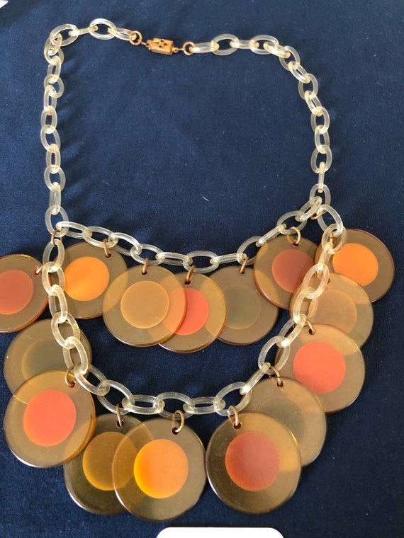 Bakelite Necklace with Bakelite colored circles