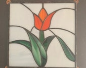 Beautiful Vintage Salvaged Stained Glass Panel