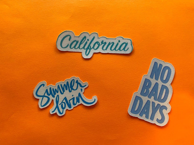 pineapple van turtle Fun BLUE aesthetic vsco stickers girl power popsicle life is good california flower hearts and more!!