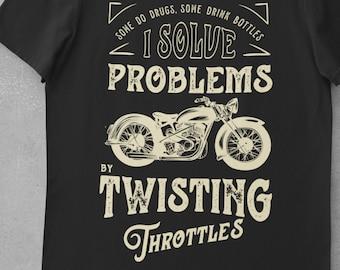 Biker t shirt, Pun Motorcycle shirt, Gift Idea, Chopper Tee