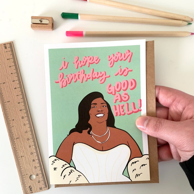 Lizzo Happy Birthday Card Truth Hurts Good As Hell Juice Cuz I Love You