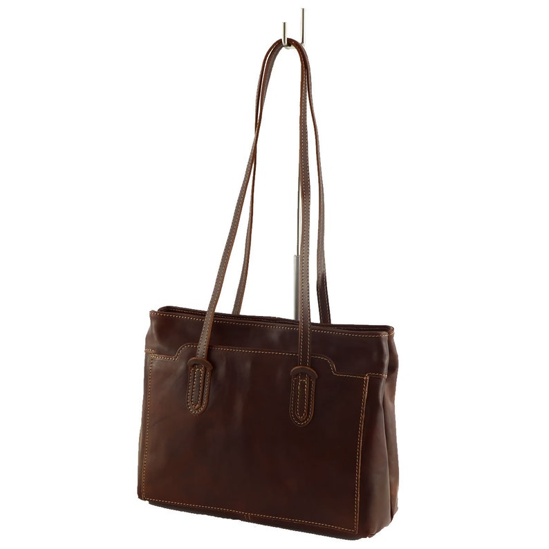 Shoulder Shopper Bag Purse Genuine Tuscany Leather G/&D Logo Handmade in Italy With Dustbag New