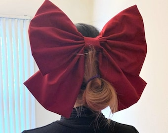 """Large 12"""" Bow, Multiple Colors, Oversized Cosplay Prop, Anime Inspired Accessory, Use for Crafts or Home Décor, Handmade, Customizable"""