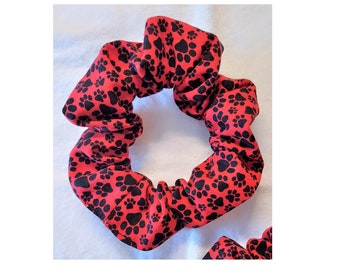 Mini Paws Hair Scrunchies, Animal Lover, Pet Themed Gift, Party Favor, Sweet Accessory, Handmade, Ready to Ship