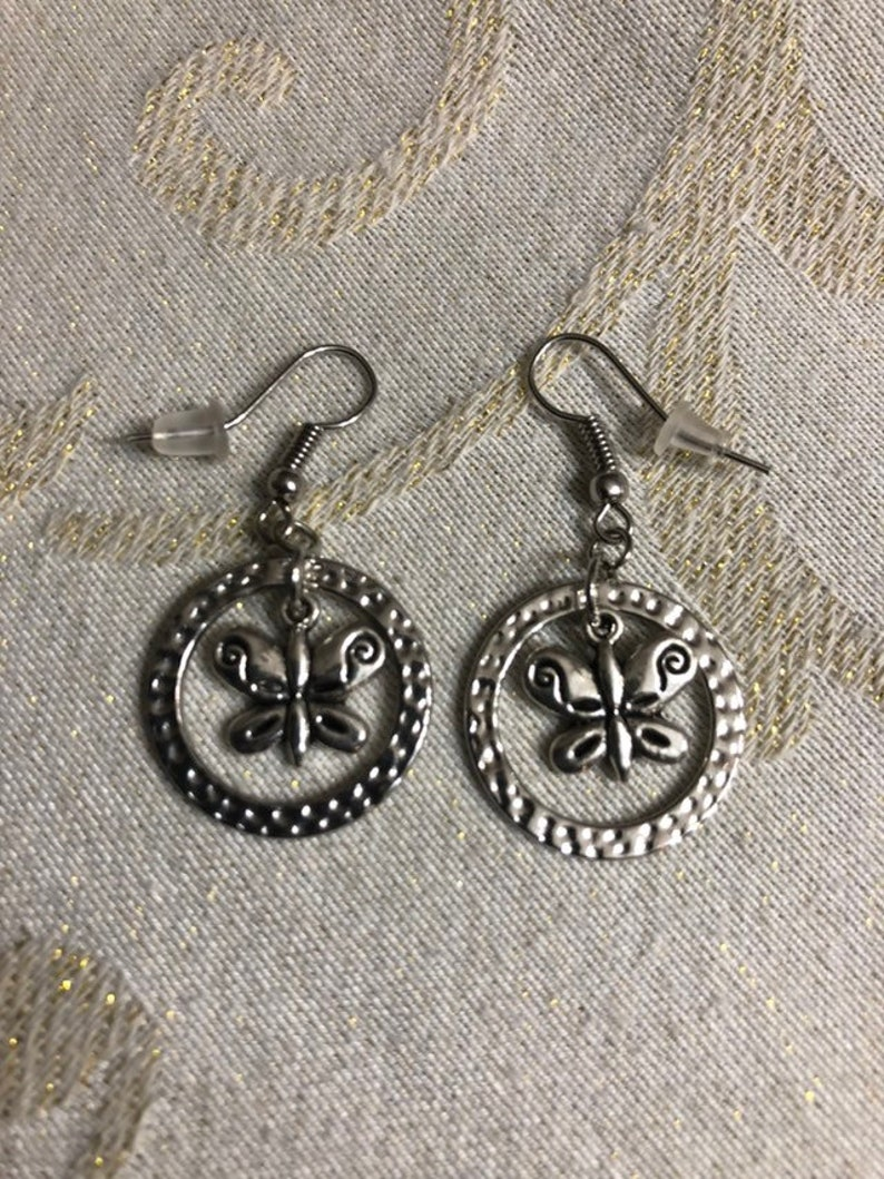 different styles. Cute silver plated earrings