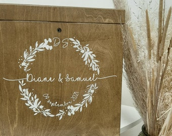 Flower crown - wedding urn - guest book