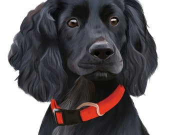 Custom Pet Portrait, DIGITAL FILE,  Dog portrait, Cat portrait, Custom Gift, Digital Painting.