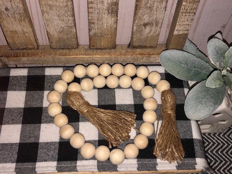 Handmade Natural Wood Bead Garland