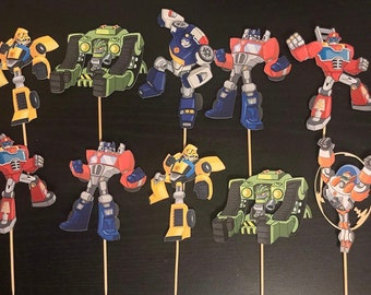 Transformers Cupcake Toppers/Transformers Inspired/Transformers Rescue Bots Inspired/Rescue Bots Cupcake Toppers/Transformers Rescue Bots